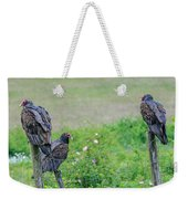 Vulture Fence Line 3 Weekender Tote Bag