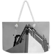 W T C 4 In Black And White Weekender Tote Bag