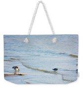 Waders Walking The Beach. Weekender Tote Bag