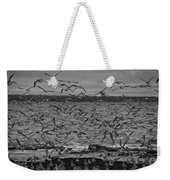 Wading Birds-black And White Weekender Tote Bag