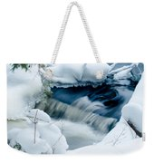 Wagner Creek In Winter Weekender Tote Bag