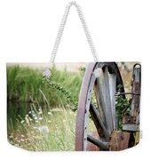 Wagon Wheel In Grass Weekender Tote Bag