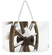 Wagon Wheel In Snow Weekender Tote Bag