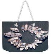 Wagonwheel Wedding Raftup Weekender Tote Bag