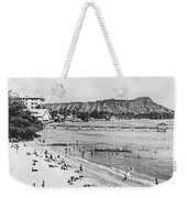 Waikiki Beach And Diamond Head Weekender Tote Bag