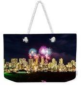 Waikiki Fireworks Celebration 2 Weekender Tote Bag
