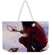 Waiting For A Fishy Weekender Tote Bag