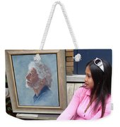 Waiting For A Portrait Session Weekender Tote Bag