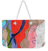 Waiting For A Taxi Weekender Tote Bag by Elinor Rakowski