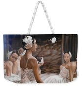 Waiting For Curtain Weekender Tote Bag