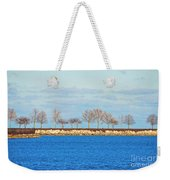 Waiting For Summer - Trees At The Edge Weekender Tote Bag by Mary Machare