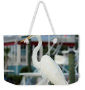 Waiting For The Boat Weekender Tote Bag