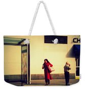 Waiting For The Bus - New York City Street Scene Weekender Tote Bag