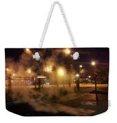 Waiting For The Bus Weekender Tote Bag