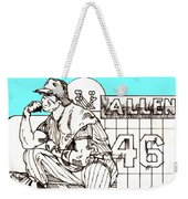 Waiting For The Call Weekender Tote Bag by George Pedro