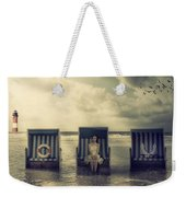 Waiting For The Flood Weekender Tote Bag