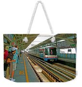 Waiting For The Sky Train In Bangkok-thailand Weekender Tote Bag