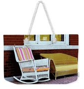 Waiting For The Train Weekender Tote Bag