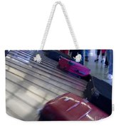 Waiting People Claim Baggage Airport Conveyor Belt Weekender Tote Bag