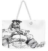 Waiting Room Nap Sketch Weekender Tote Bag