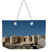 Waiting Tablets At Acropolis Weekender Tote Bag