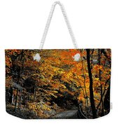Walk In Golden Fall Weekender Tote Bag