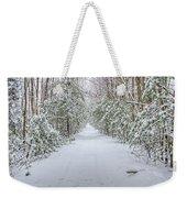 Walk In Snowy Woods Weekender Tote Bag