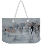 Walk In The Rain Weekender Tote Bag