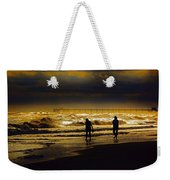 Walk In The Surf Colored Weekender Tote Bag