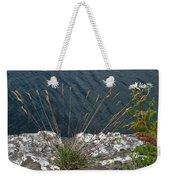 Flowers In Rock Weekender Tote Bag