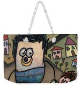 Walkin The Dog Weekender Tote Bag by James W Johnson