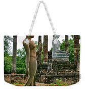 Walking And Sitting Buddha Images At Wat Sa Si In Sukhothai Historical Park-thailand Weekender Tote Bag
