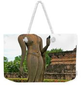 Walking Buddha Image In Wat Sa Si In Sukhothai Historical Park-t Weekender Tote Bag