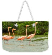 Walking Flamingos Weekender Tote Bag