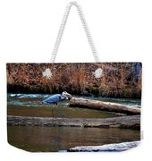 Walking Heron Weekender Tote Bag