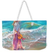 Walking In The Waves Weekender Tote Bag