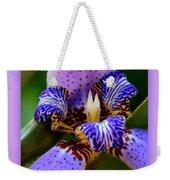 Walking Iris With Purple Border Weekender Tote Bag