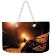 Walking On A Misty Evening Weekender Tote Bag