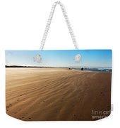 Walking On Windy Beach. Weekender Tote Bag