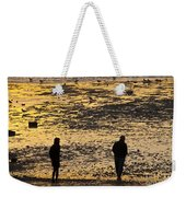 Strangers On A Shore - Walking Silhouettes Weekender Tote Bag