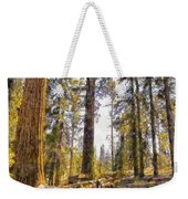 Walking Small In The Tall Forest Weekender Tote Bag