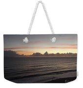 Walking The Beach At Sunrise Weekender Tote Bag