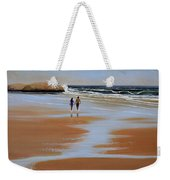Walking The Beach Weekender Tote Bag