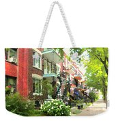 Walking Verdun In Summer Winding Staircases And Pathways Urban Montreal City Scenes Carole Spandau Weekender Tote Bag