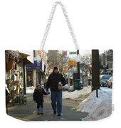 Walking With Dad Weekender Tote Bag