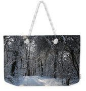 Walkway In Black And White Weekender Tote Bag