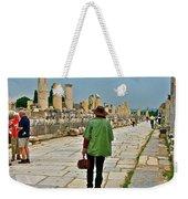 Walkway To Harbor In Ephesus-turkey Weekender Tote Bag