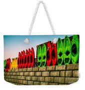 Wall Of Kayaks Weekender Tote Bag
