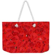 Wall Of Red Roses Weekender Tote Bag