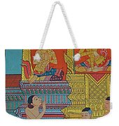 Wall Painting 2 In Wat Po In Bangkok-thailand Weekender Tote Bag